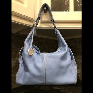 Tod's Robin's Egg Blue Leather Hobo Style Bag
